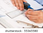 architect working on... | Shutterstock . vector #55365580