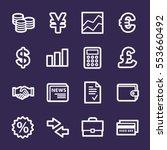 finance web icons set | Shutterstock .eps vector #553660492