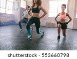 portrait of three young women...   Shutterstock . vector #553660798