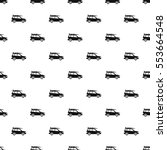 car with surfboard pattern.... | Shutterstock .eps vector #553664548