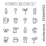 set of drinks icons in modern... | Shutterstock .eps vector #553665922