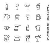 set of drinks icons in modern... | Shutterstock .eps vector #553665952