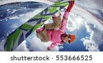 sports background. snowboarder... | Shutterstock . vector #553666525