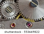vintage watch machinery macro... | Shutterstock . vector #553669822