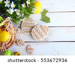 cookies easter bunny  colorful... | Shutterstock . vector #553672936