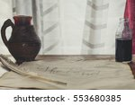old sheet of paper with a...   Shutterstock . vector #553680385