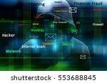 computer hacker or cyber attack ... | Shutterstock . vector #553688845