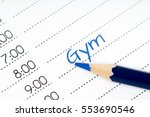 gym  day schedule with pencil | Shutterstock . vector #553690546