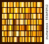 collection metallic and golden... | Shutterstock .eps vector #553693912