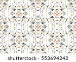 pattern design   ethnic style... | Shutterstock .eps vector #553694242