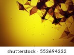 abstract polygonal space yellow ... | Shutterstock . vector #553694332