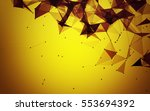abstract polygonal space yellow ... | Shutterstock . vector #553694392