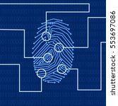 fingerprint for biometric...   Shutterstock .eps vector #553697086