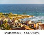 view of the mediterranean sea... | Shutterstock . vector #553704898