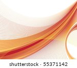 dynamic orange and red swoosh   Shutterstock .eps vector #55371142