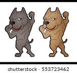 sexy strong muscle pitbull dog... | Shutterstock .eps vector #553723462