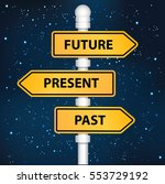 future present and past... | Shutterstock .eps vector #553729192