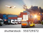 logistics and transportation of ... | Shutterstock . vector #553729372