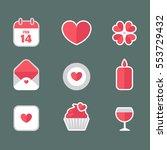 saint valentine's day flat... | Shutterstock .eps vector #553729432