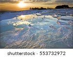 carbonate travertines the... | Shutterstock . vector #553732972