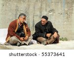 Turkish Men Chatting Sitting A...