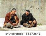 Turkish Men Chatting Sitting A...