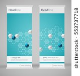 brochure cover design. abstract ... | Shutterstock .eps vector #553737718