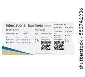 raster illustration bus ticket...   Shutterstock . vector #553741936