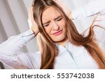 stressful situations in work.... | Shutterstock . vector #553742038
