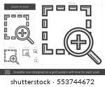 zoom in vector line icon...   Shutterstock .eps vector #553744672