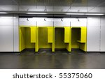 phone booths in the subway - stock photo