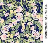 flowers pattern | Shutterstock .eps vector #553753516