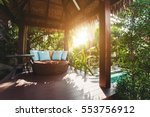 cozy luxury gazebo chair with... | Shutterstock . vector #553756912