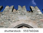 the fenis castle in aosta... | Shutterstock . vector #553760266