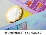 euro money  closeup of... | Shutterstock . vector #553760362