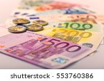 euro money  closeup of... | Shutterstock . vector #553760386