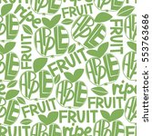 seamless green pattern with... | Shutterstock . vector #553763686