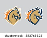 Stock vector mustang sport mascot horse head logotype label emblem 553765828
