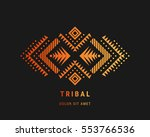 aztec style colorful ornament.... | Shutterstock .eps vector #553766536