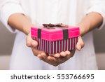 close up shot of female hands... | Shutterstock . vector #553766695