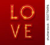 love retro light banner.... | Shutterstock .eps vector #553770496