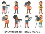 photographer working with... | Shutterstock .eps vector #553770718