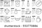 junk food vector line icon set... | Shutterstock .eps vector #553770886