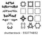 vector set of calligraphic... | Shutterstock .eps vector #553774852