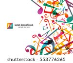 Colorful Music Notes. Vector...
