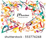 colorful music notes. vector... | Shutterstock .eps vector #553776268