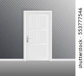 closed door isolated on... | Shutterstock .eps vector #553777546