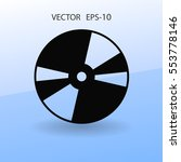 Flat  Icon Of Dvd Disc. Vector...