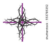 lent cross  purple christian... | Shutterstock .eps vector #553785352