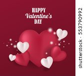happy valentine's day greeting... | Shutterstock .eps vector #553790992